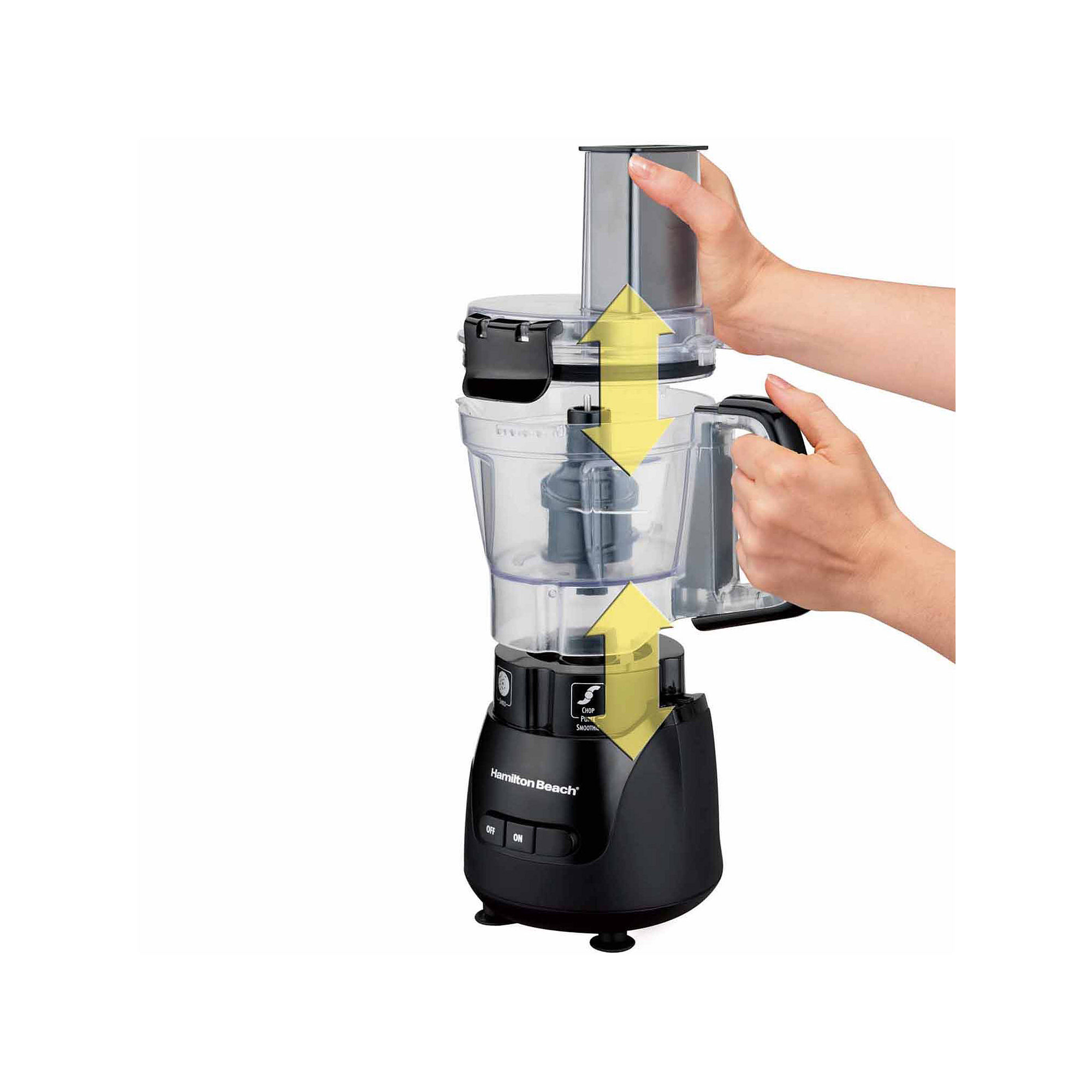 "Hamilton Beach Stack & Snap"" 4-Cup Compact Food Processor"