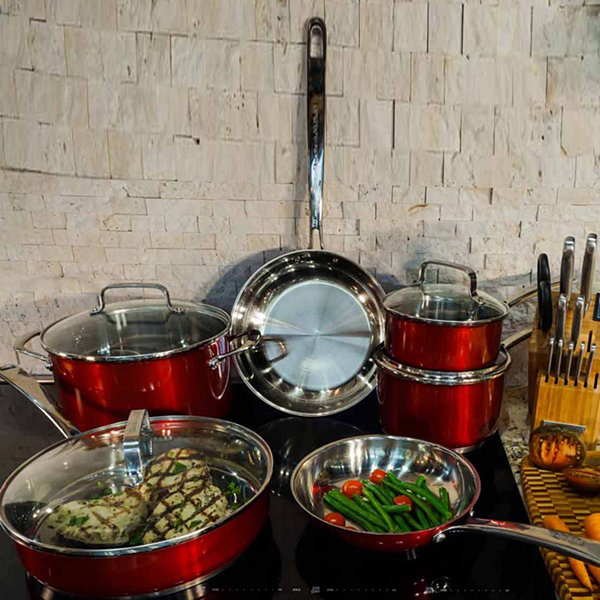 Kitchen Aid 10-pc. Stainless Steel Cookware Set