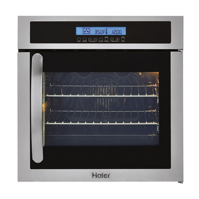 "Haier 24"" Single 2.0 Cu. Ft.  Right-Swing True European Convection Oven"