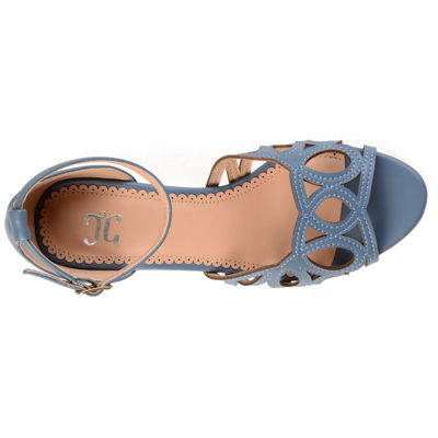 Journee Collection Ashby Womens Pumps Buckle Open Toe Block Heel