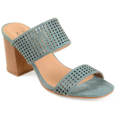 Journee Collection Womens Sonya Open Toe Slip-on Mules