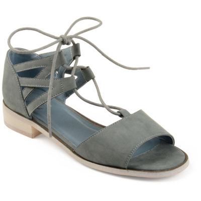 Journee Collection Womens Ingrid Slip-On Shoes Lace-up Open Toe