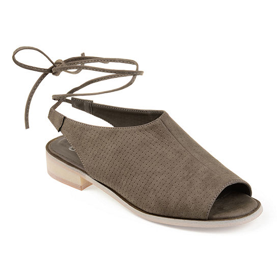 Journee Collection Womens Blanch Open Toe Slip-On Shoe