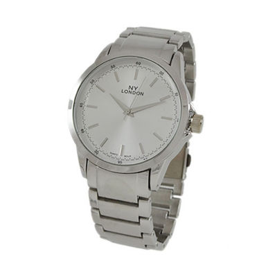 Ny London Mens Silver Tone Bracelet Watch-9336