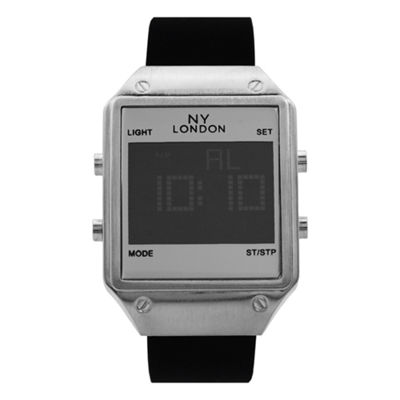 Ny London Mens Black Strap Watch-15179
