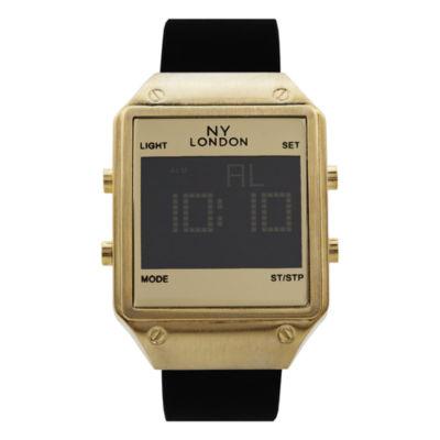 Ny London Mens Black Strap Watch-15179