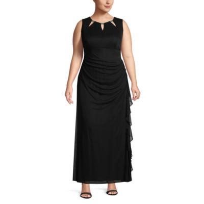 Scarlett Sleeveless Embellished Evening Gown-Plus