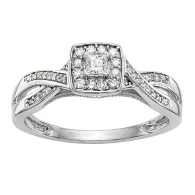 Promise My Love Womens 1/3 CT. T.W. Multi-Shape White Diamond 14K Gold Promise Ring