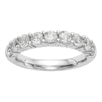 Womens 2MM 1/4 CT. T.W. Genuines White Diamond 14K White Gold Round Wedding Band