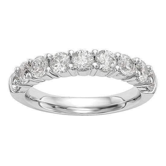 Womens 2.5MM 1/2 CT. T.W. Genuine White Diamond 14K White Gold Round Wedding Band