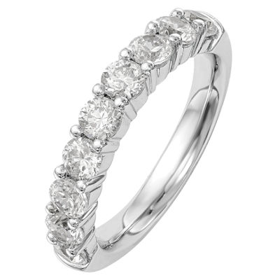 Womens 3mm 1 5/8 CT. T.W. Genuine White Diamond 14K White Gold Round Wedding Band