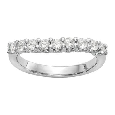Womens 1/3 CT. T.W. White Diamond 14K Gold Wedding Band