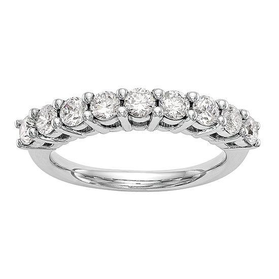 2MM 1/4 CT. T.W. Genuine White Diamond 14K White Gold Round Wedding Band