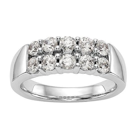 3MM 1 CT. T.W. Genuine White Diamond 14K White Gold Round Wedding Band