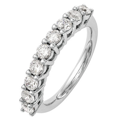 Womens 2.5mm 1 1/6 CT. T.W.  Genuine White Diamond 14K White Gold Round Wedding Band