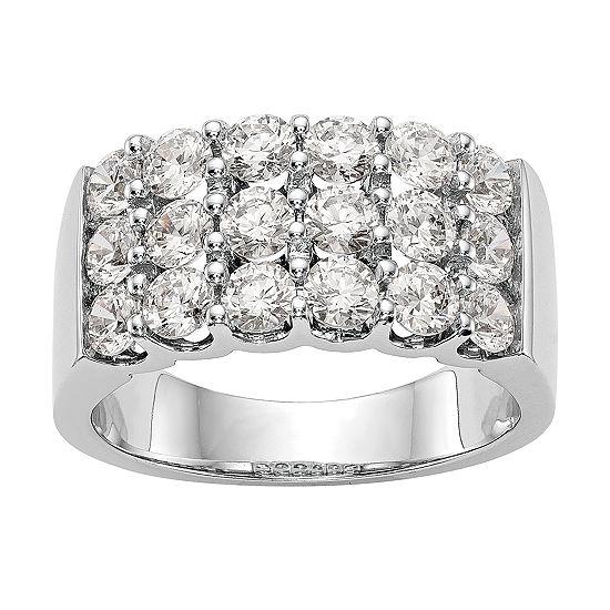 3.5MM 2 CT. T.W. Genuine White Diamond 14K White Gold Round Wedding Band