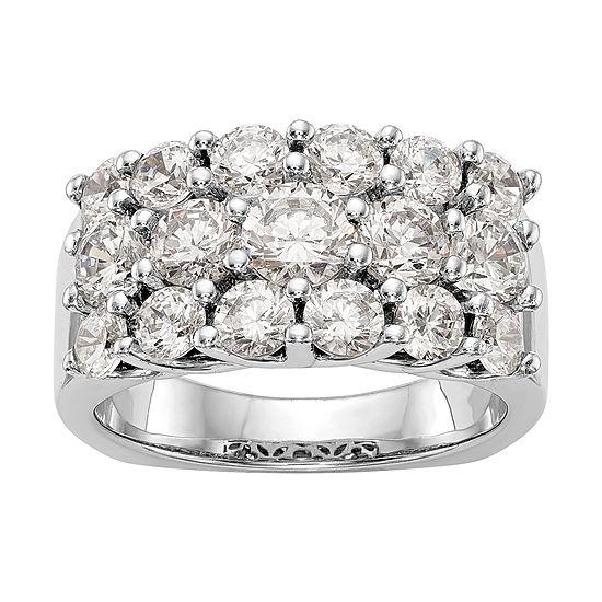 3MM 3 CT. T.W. Genuine White Diamond 14K White Gold Round Wedding Band
