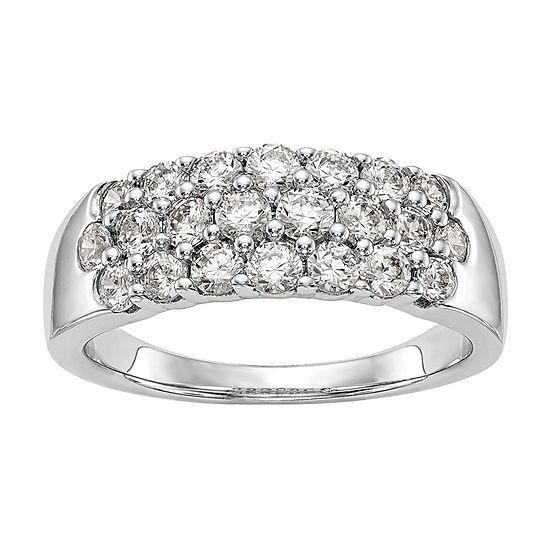 2MM 1 1/5 CT. T.W. Genuine White Diamond 14K White Gold Round Wedding Band
