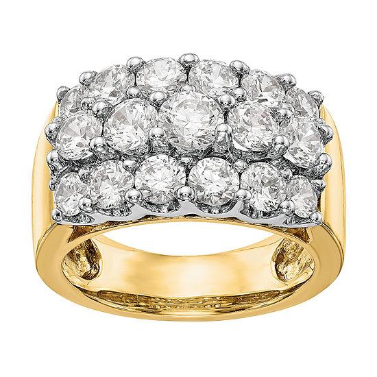 5MM 2 3/4 CT. T.W. Genuine White Diamond 14K Two Tone Gold Round Wedding Band