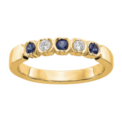 Womens 2.5mm 1/10 CT. T.W. Genuine White Diamond 14K Gold Round Wedding Band