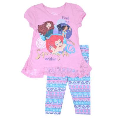 Disney Princess 2-pc. Legging Set-Preschool Girls