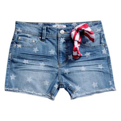 Obsess Denim Bermuda Shorts - Big Kid Girls