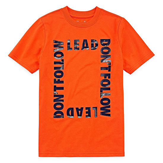 Xersion Boys Crew Neck Short Sleeve Graphic T-Shirt Big Kid Husky