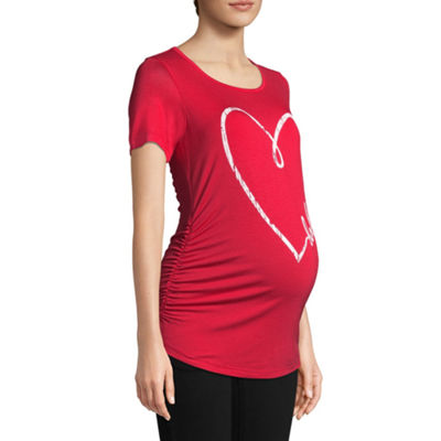 "Planet Motherhood Short Sleeve ""Baby"" Graphic Tee - Maternity"