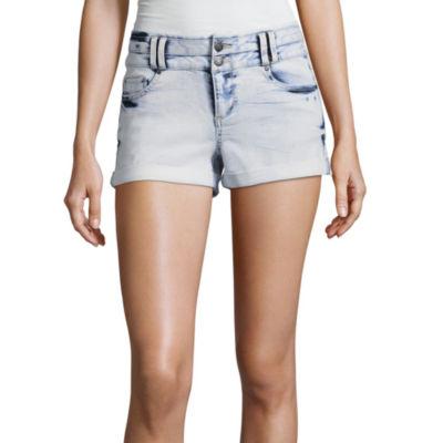 "Blue Spice 2 1/2"" High Rise Denim Shorts-Juniors"