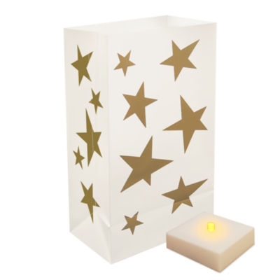 Battery Operated Luminaria Kit With Timer- Set of 6