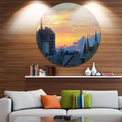 Design Art Ottawa City Panoramic Disc Cityscape Photo Circle Metal Wall Art