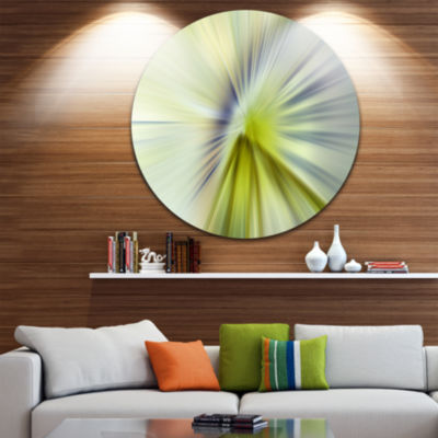 Design Art Rays of Speed Green Purple Large Abstract Circle Metal Wall Art