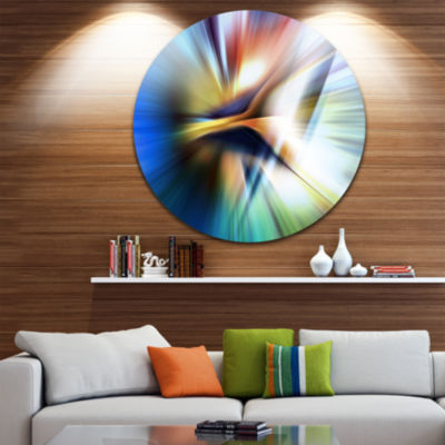 Design Art Rays of Speed Center Abstract Circle Metal Wall Art