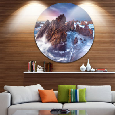 Design Art Rugged Beauty Landscape Disc Photography Circle Metal Wall Art