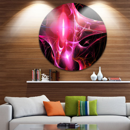 Design Art Red Bright Candle Abstract Circle MetalWall Art