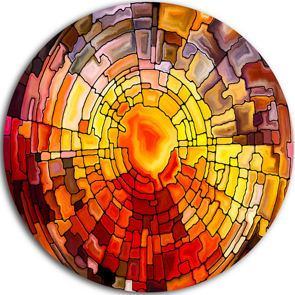 Design Art Return of Stained Glass Contemporary Metal Circle Wall Art
