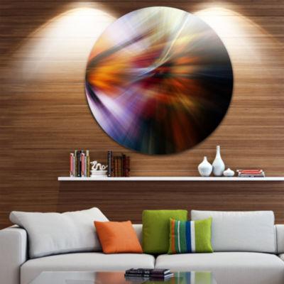 Design Art Red Orange Fusion of Hues Abstract Circle Metal Wall Art