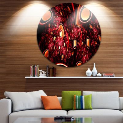 Design Art Red 3D Surreal Abstract Design AbstractRound Circle Metal Wall Decor