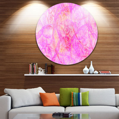 Design Art Rose Fractal Dramatic Clouds Abstract Round Circle Metal Wall Decor