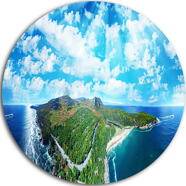 Design Art Panoramic Acadia National Park Disc Landscape Photography Circle Metal Wall Art