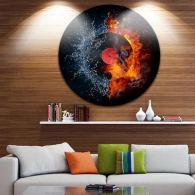 Design Art Record Abstract Disc Large ContemporaryCircle Metal Wall Arts