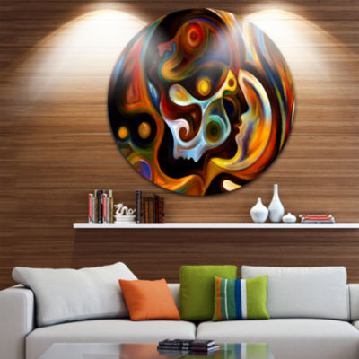 Design Art Perspectives of Inner Paint Abstract Metal Artwork