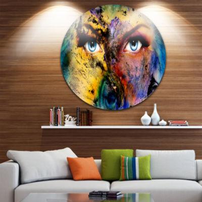 Design Art Planet Earth and Human Disc Animal Circle Metal Wall Art