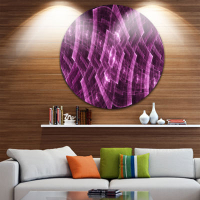 Design Art Purple Round Metal Protective Grids Abstract Round Circle Metal Wall Decor Panel