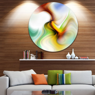 Design Art Rays of Speed Curved Abstract Circle Metal Wall Art
