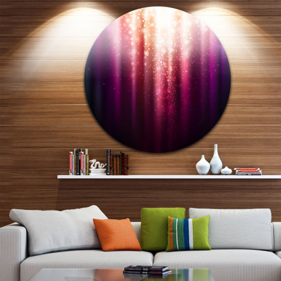 Design Art Purple with Magic Light Abstract MetalArtwork