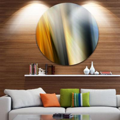 Design Art Rays of Speed Vertical Abstract CircleMetal Wall Art