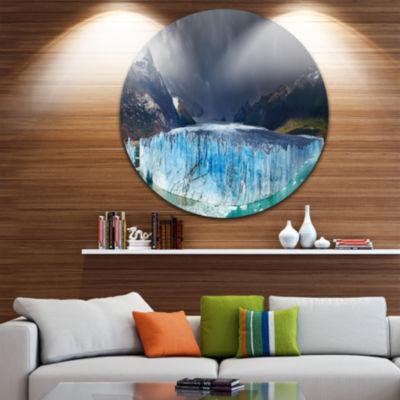 Design Art Perito Moreno Glacier Disc Large Photography Circle Metal Wall Art