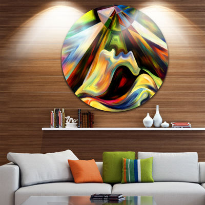 Design Art Origin of Imagination Abstract Metal Circle Wall Art