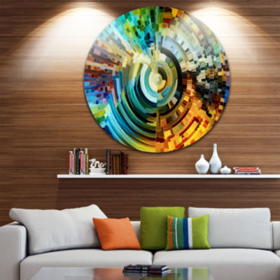 Design Art Paths of Stained Glass Abstract Metal Artwork